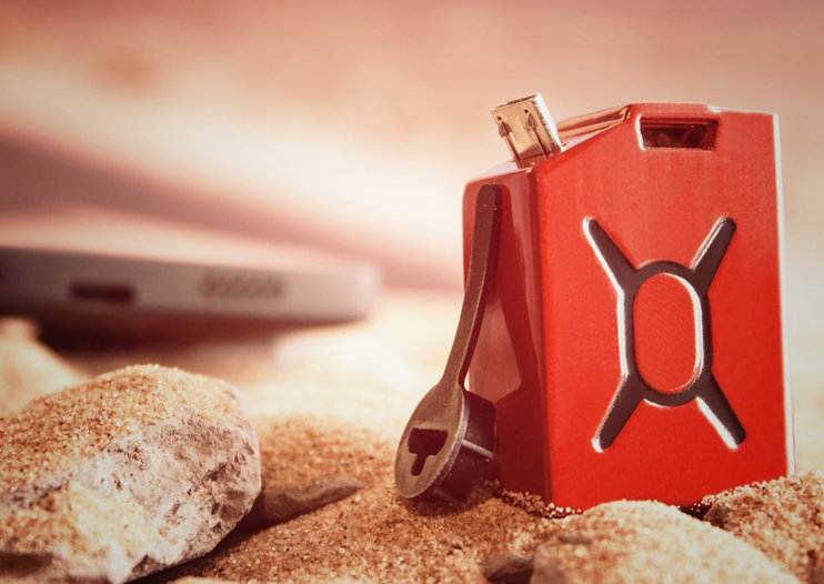 Fuel battery looks like a mini jerry-can and provides 30 mins talk time to Android phones