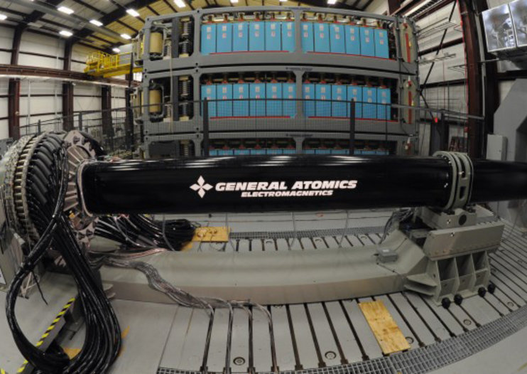 US Navy electromagnetic railgun developed to fire shells at 5,000mph for 100 miles