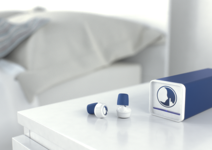 Hush smart earplugs actively cancel noise and intelligently wake you for perfect sleep
