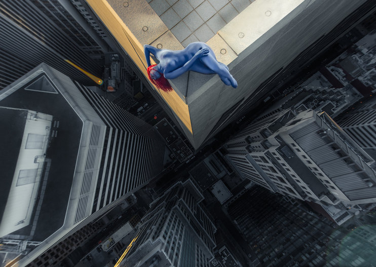 Incredible pictures of superheroes on rooftops and how they were shot (gallery)
