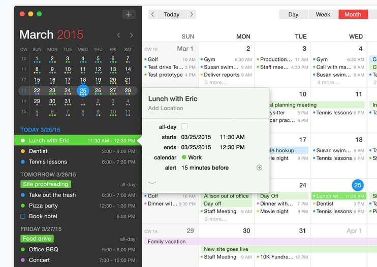 Flexbits' all-new Fantastical 2 is a full calendar app just for Yosemite power users