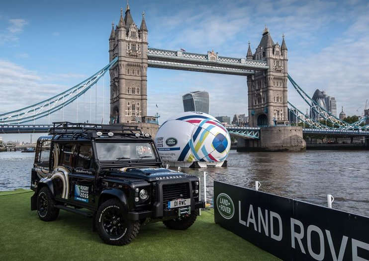 Land Rover creates unique Defender to show off rugby's Webb Ellis Cup