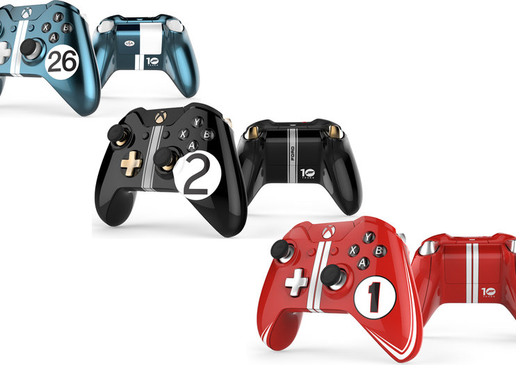 These stunning Xbox One controllers were created to celebrate Ford's Le Mans return