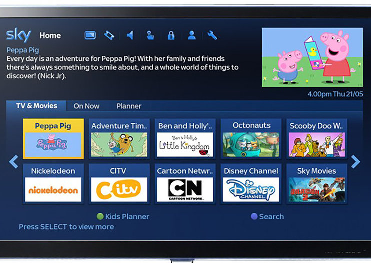 Sky to take on CBeebies and Netflix with own kids viewing app