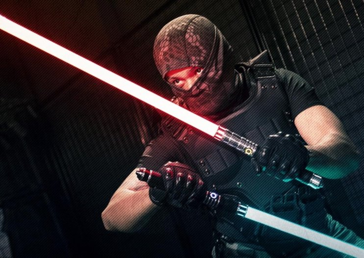 There's an actual academy where you can learn to duel with custom lightsabers