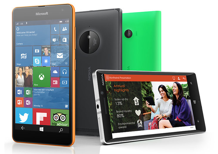 These are the smartphones where Windows 10 will appear first