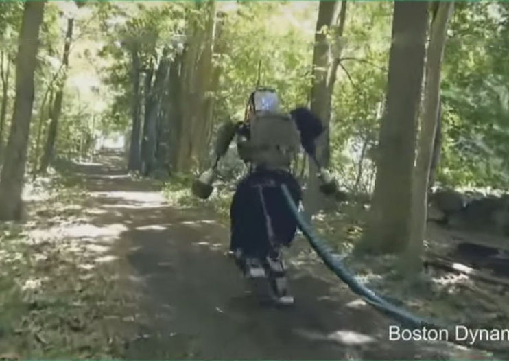 Watch Boston Dynamics humanoid Atlas robot take a walk in the woods, looking like a ninja