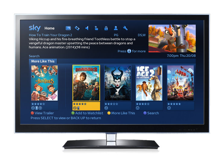 New Sky Movies features at the heart of latest Sky+HD software update