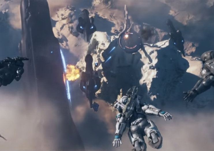 Watch bloody-pumping Halo 5: Guardians opening cinematic sequence now