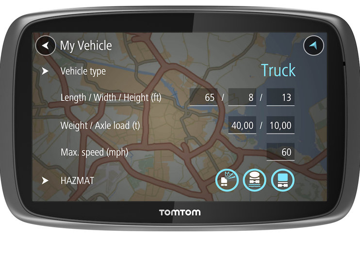 TomTom Trucker 5000 can be customised for specific vehicles, doesn't come with free Yorkie bar