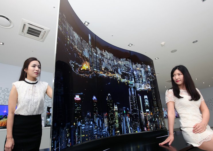 """Stunning LG """"wave"""" double-sided OLED display leaves us speechless"""