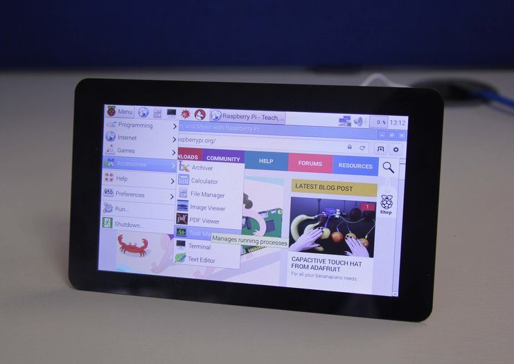 First official touchscreen for Raspberry Pi now available for just £48