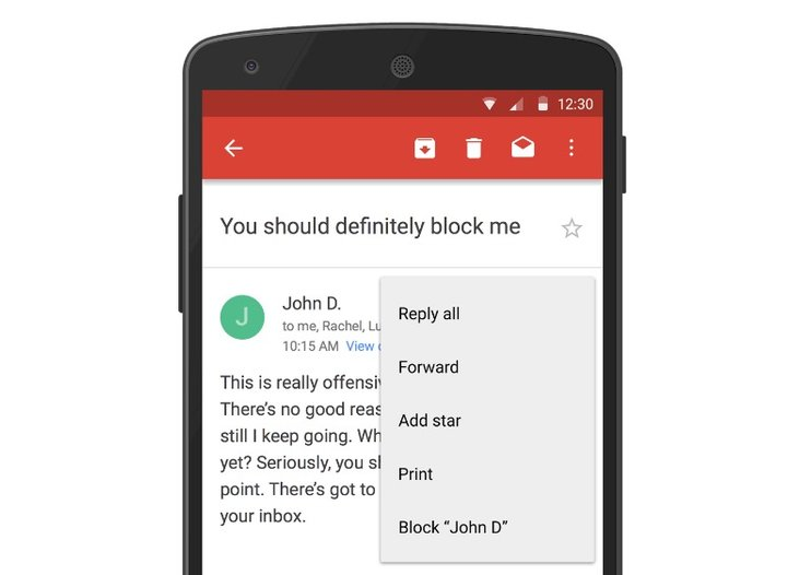 This is how to block weirdos with Gmail's new 'Block Sender' feature