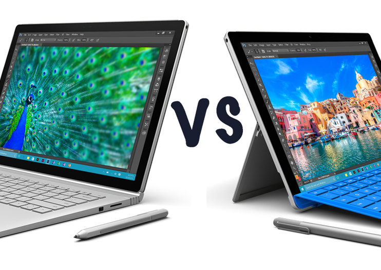 Microsoft Surface Book vs Microsoft Surface Pro 4: What's the difference?