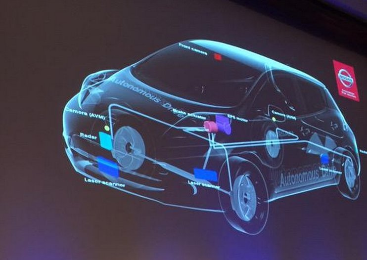 Nissan shows off autonomous car tech, promises cars on the road by 2020