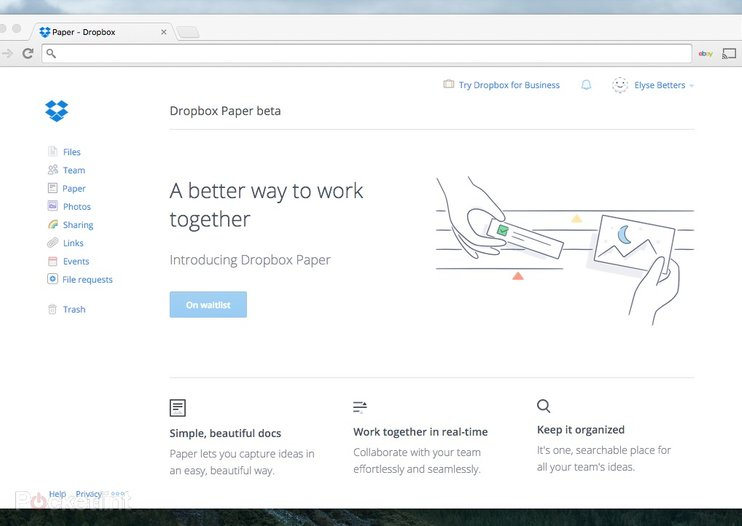Dropbox Paper is a Google Docs-like text editor that doubles as a chat room