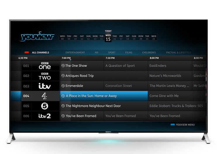 Sony to integrate YouView into Bravia TVs for 17,000 films and shows