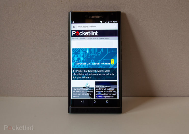 BlackBerry's first Priv software update brings performance, camera, security enhancements