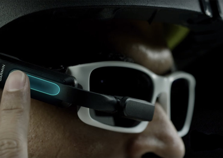 Garmin Varia Vision is a heads-up display for cyclists