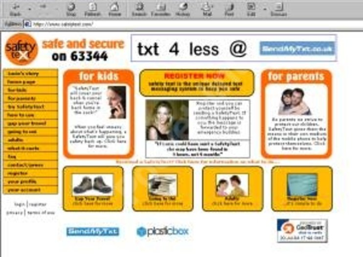 SafetyText.com texting website