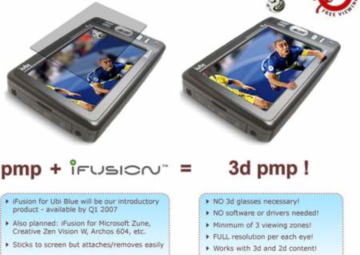 iFusion accesory turns portable media players into 3D displays