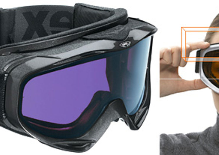 Uvex Uvision high-tech LCD goggles for snow sports