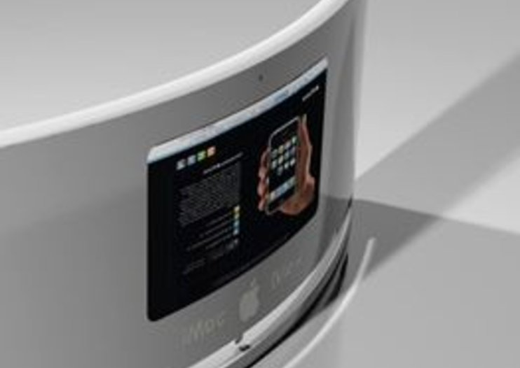 Cinema-style viewing on mock-up iMac