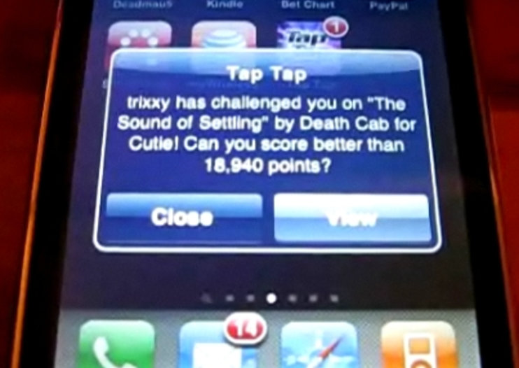 VIDEO: Tap Tap Revenge brings iPhone push notifications