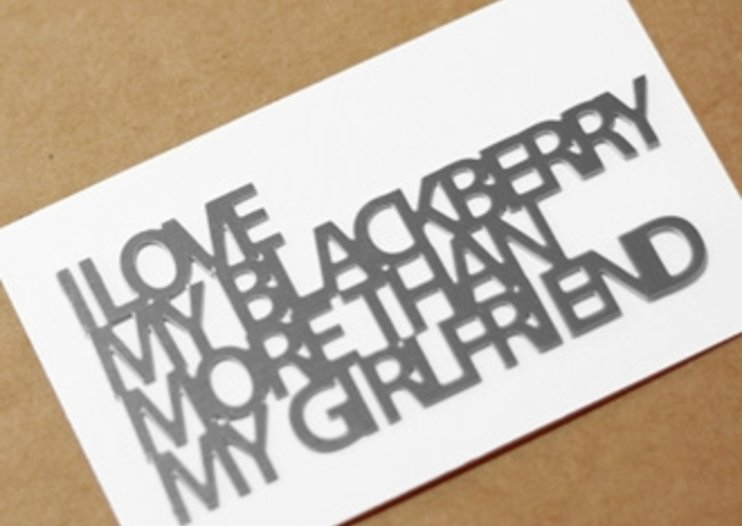 """I love my BlackBerry more than my girlfriend"" badge launches"