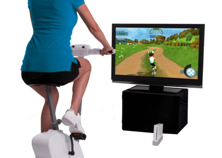 Cyberbike brings exercise bike accessory to Nintendo Wii