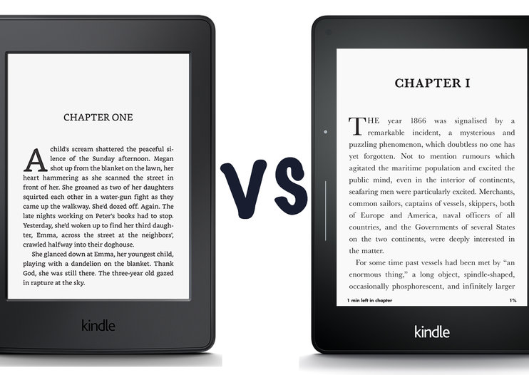 Amazon Kindle Paperwhite (2015) vs Amazon Kindle Voyage: What's the difference?