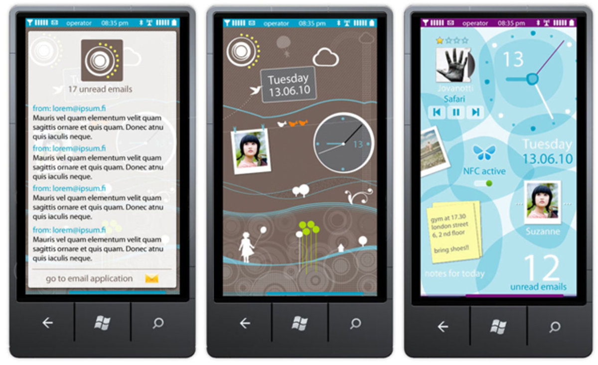 Nokia Windows Phone design concepts show company was keen to ch