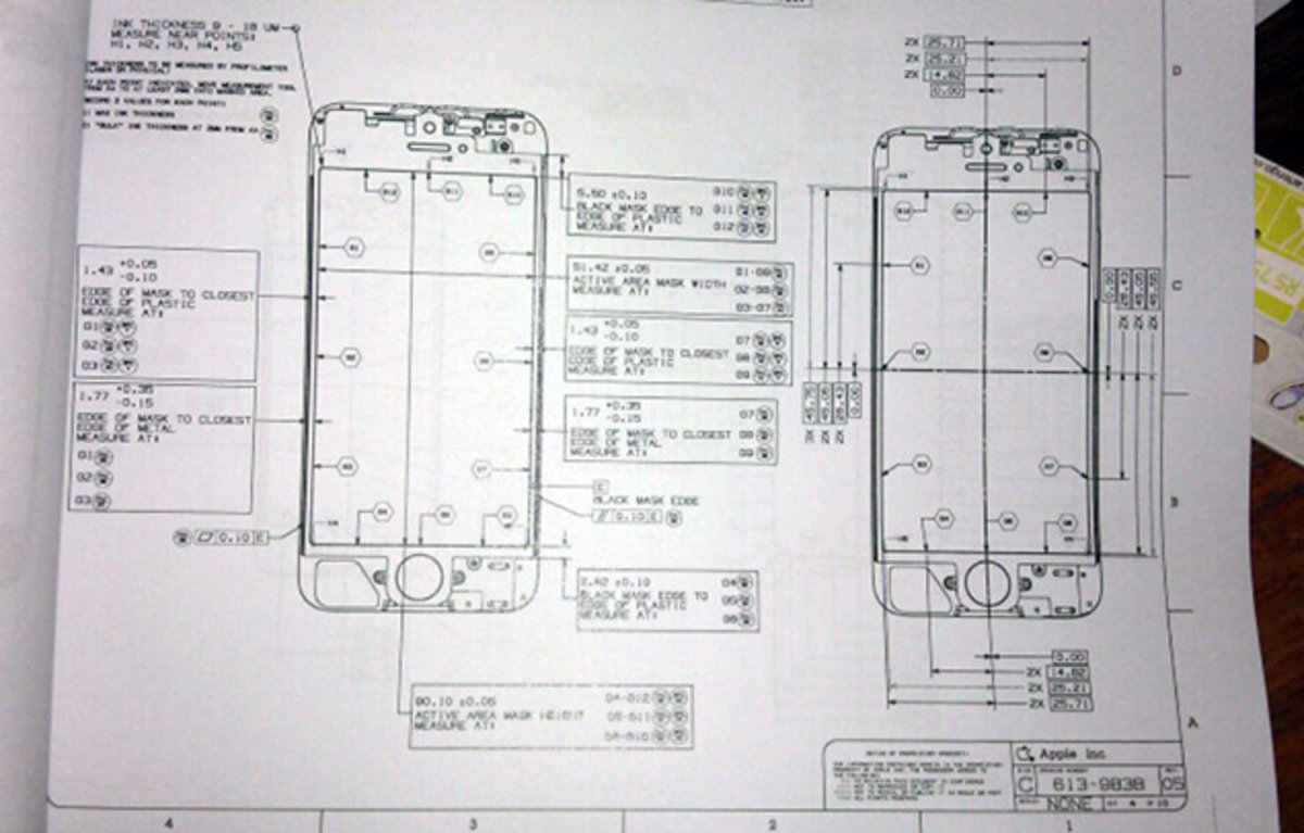 iphone 5 schematic appears to confirm 4-inch, 16:9 widescreen, Wiring schematic