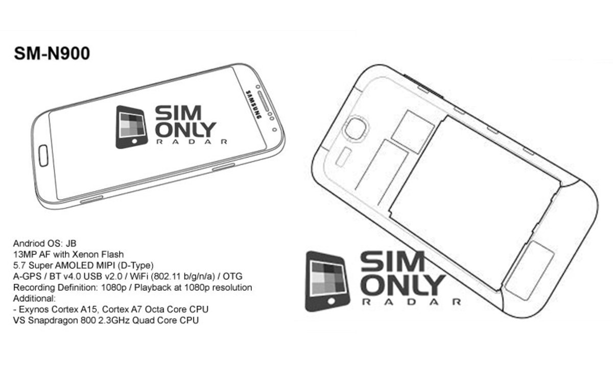 Samsung Galaxy Note 3 appears in alleged schematics, specifications ...
