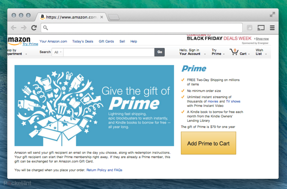 Amazon now lets you gift Amazon Prime two-day shipping service - Pocket-lint