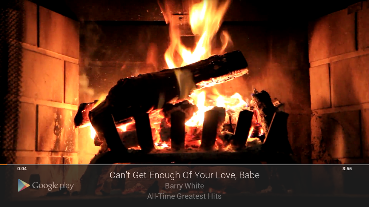 google play music updated with u0027fireplace visualiser u0027 to set the