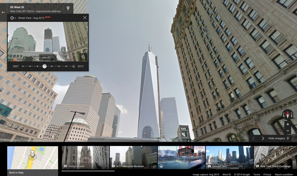 Google Street View now lets you travel up to 7 years back in ti