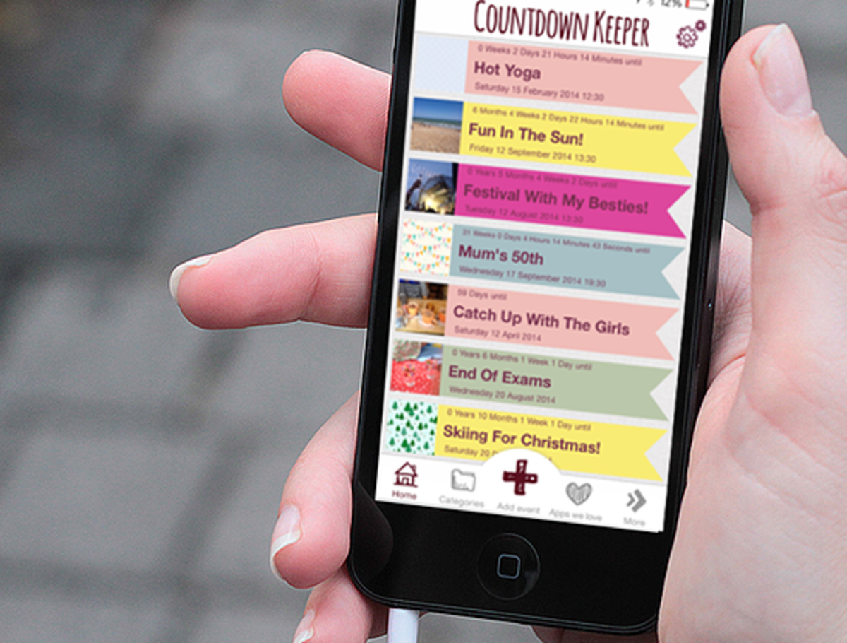 Countdown Keeper makes event countdowns fun and cute on your iP