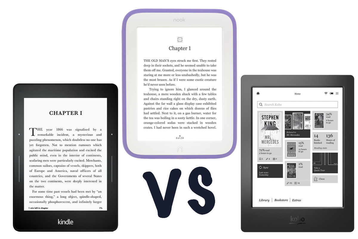 Amazon Kindle Voyage Vs Nook Glowlight Vs Kobo Aura H2o: Which Ebook Reader  Should You
