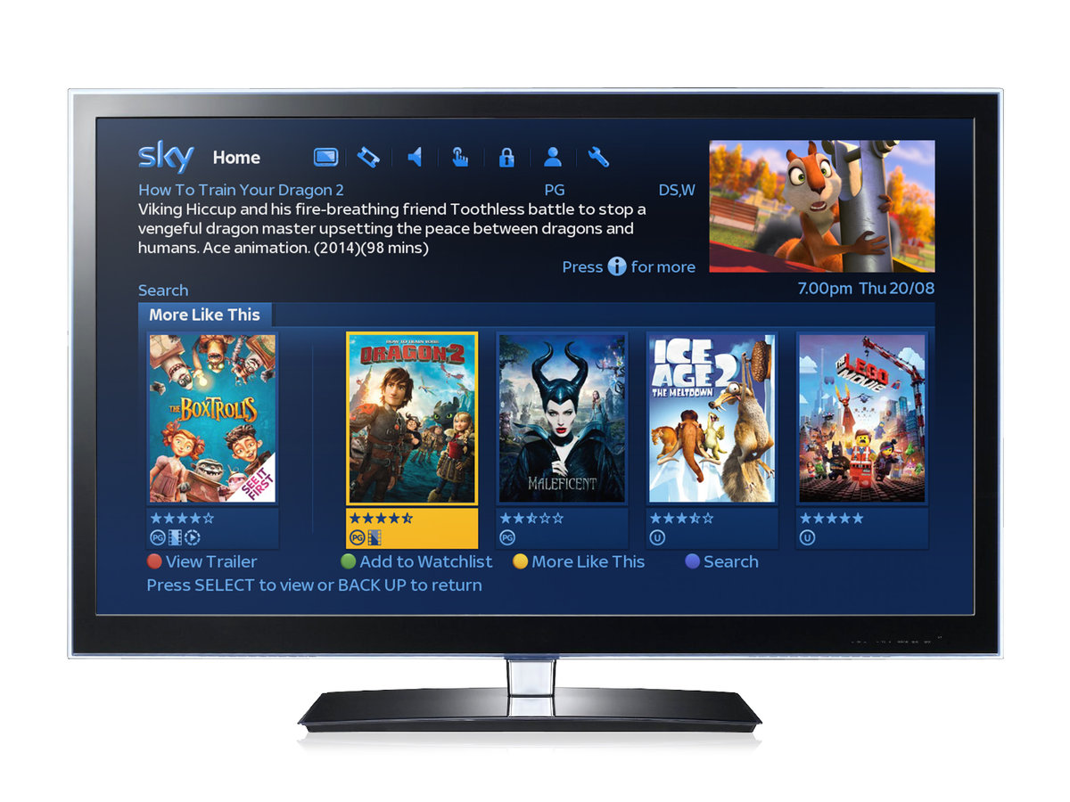 New Sky Movies features at the heart of latest Sky+HD software