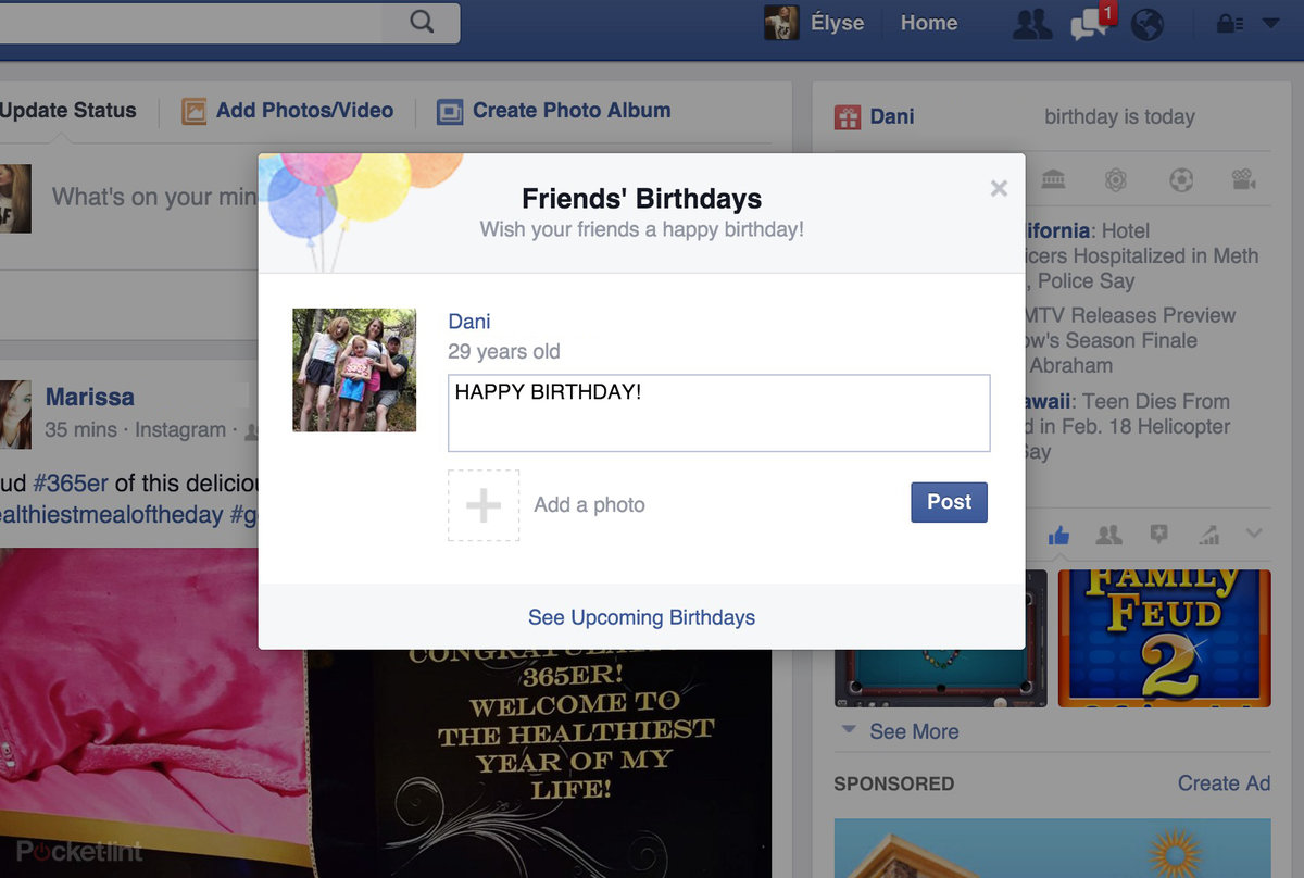 Facebook Birthday Cam Lets You Say Happy To Friends Via Video
