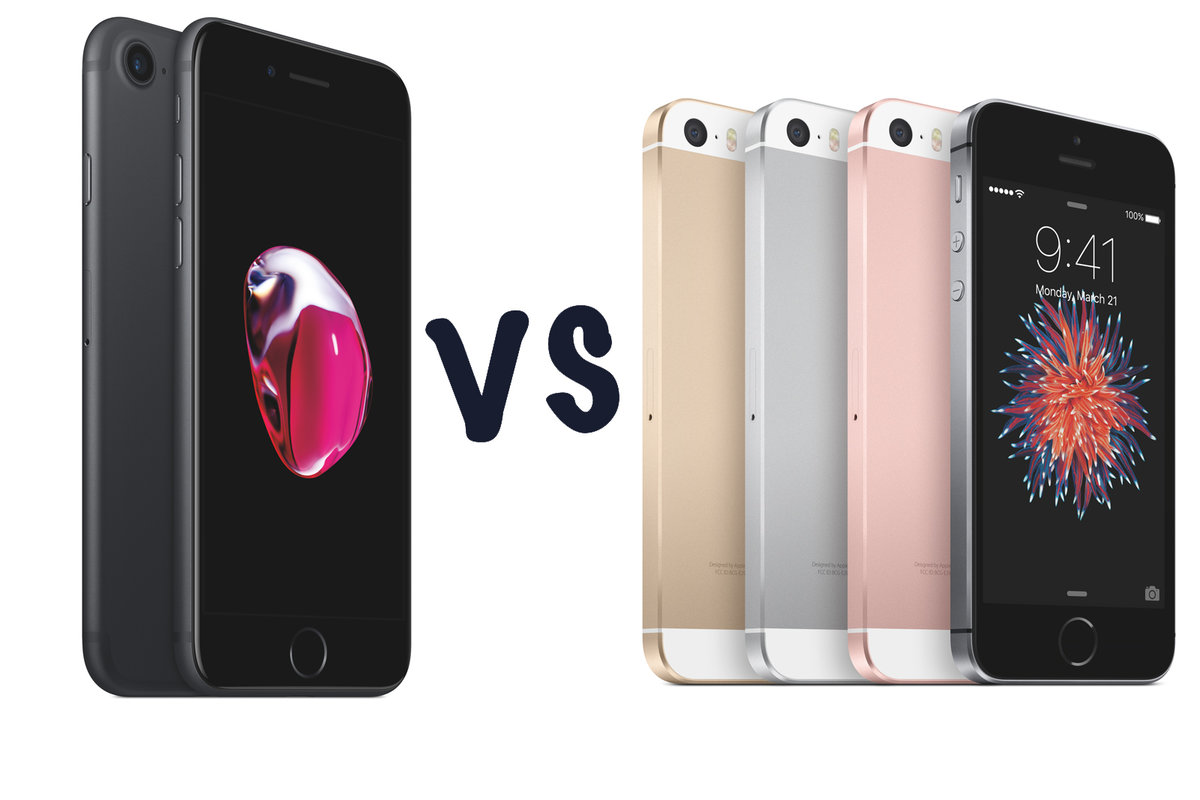 apple iphone 7 vs iphone se what s the difference pocket li apple iphone 7 vs iphone se what s the