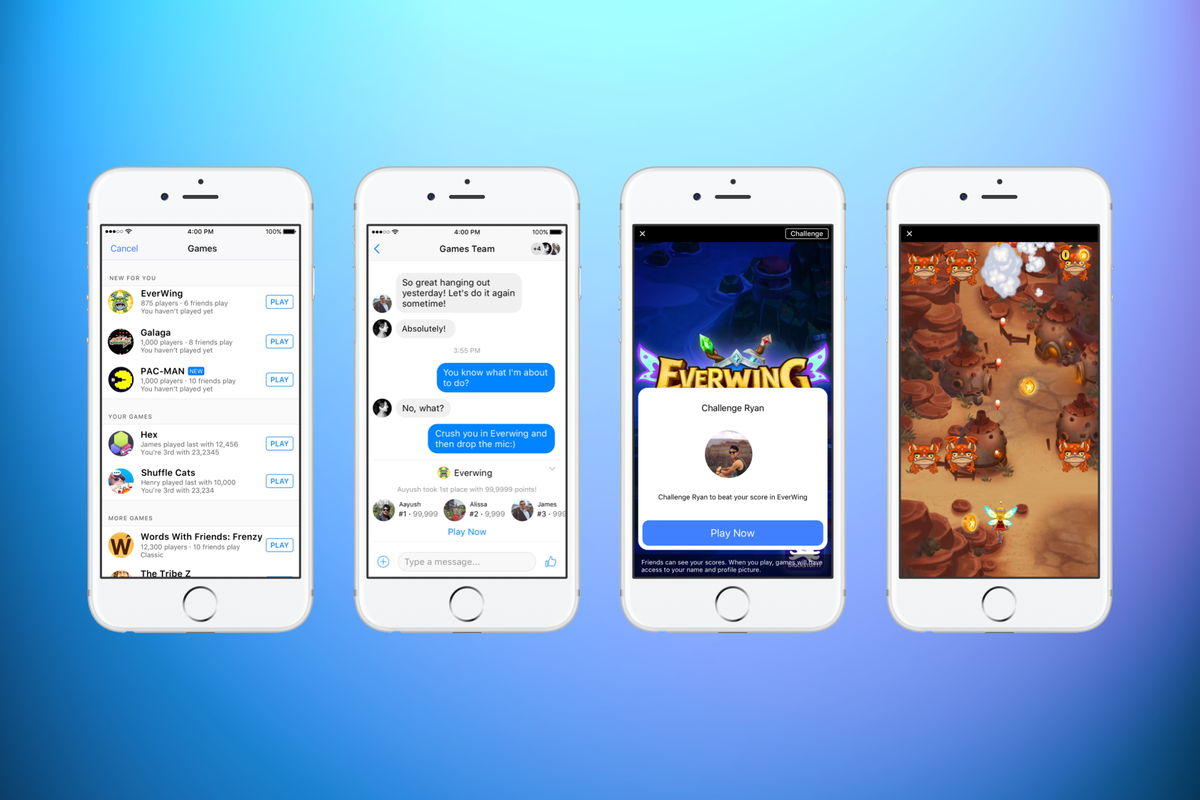 Facebook Messenger lets you play instant games like Pac-Man: He