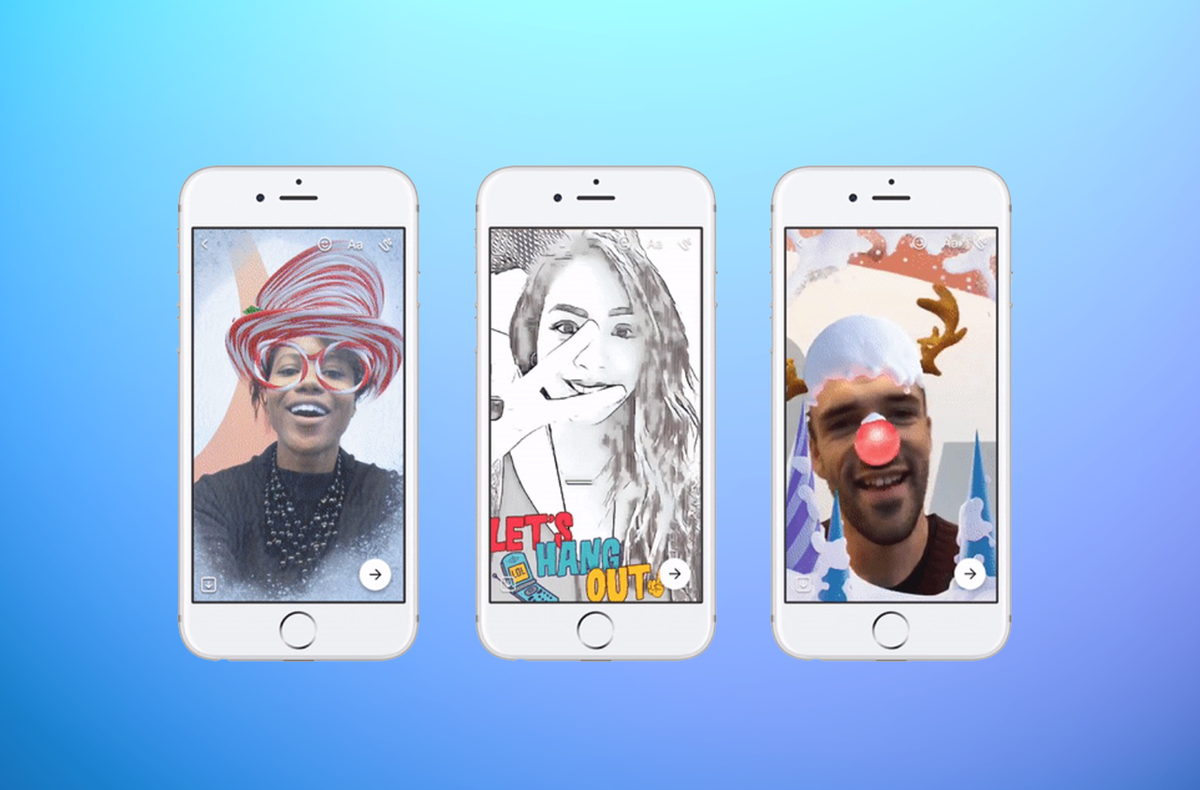 82be992e89 Facebook Messenger  Here s how to use those new Snapchat-like lenses ...