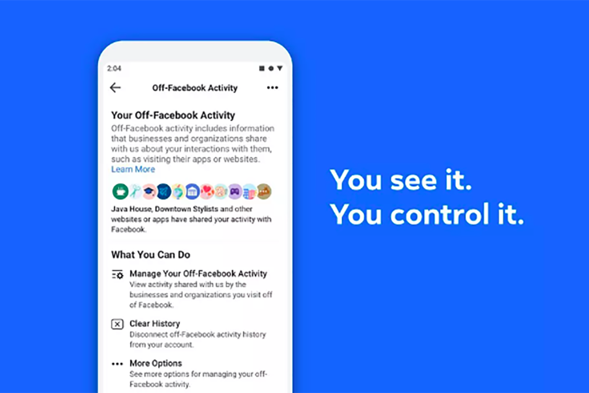 What is Facebook's Clear History tool and how does it work?