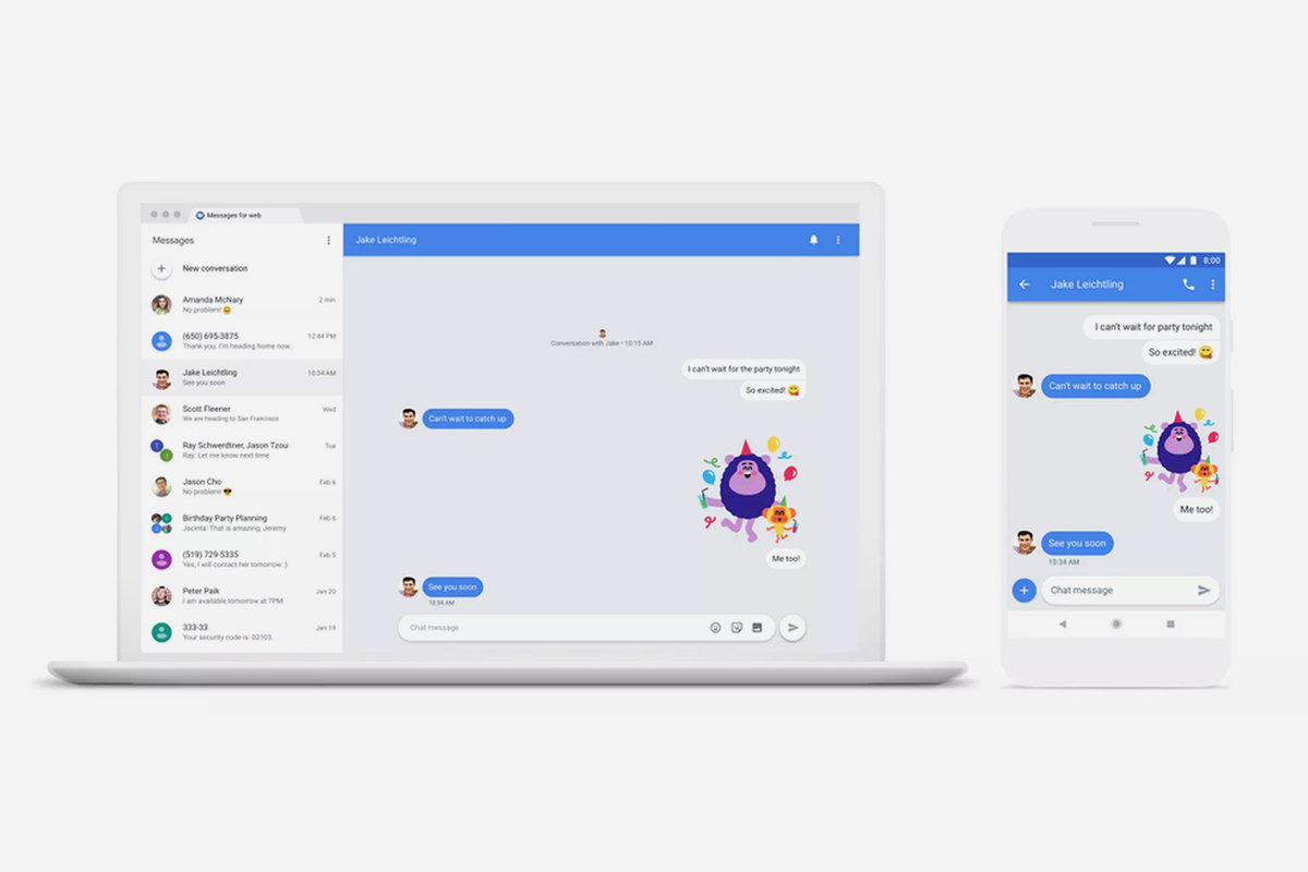 Android Messages: How to text phones from a computer
