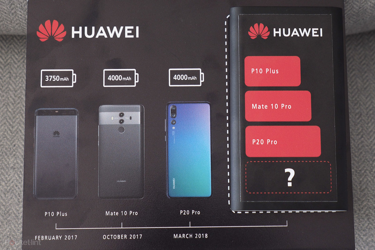 Huawei confirms Mate 20 Pro will have biggest battery yet