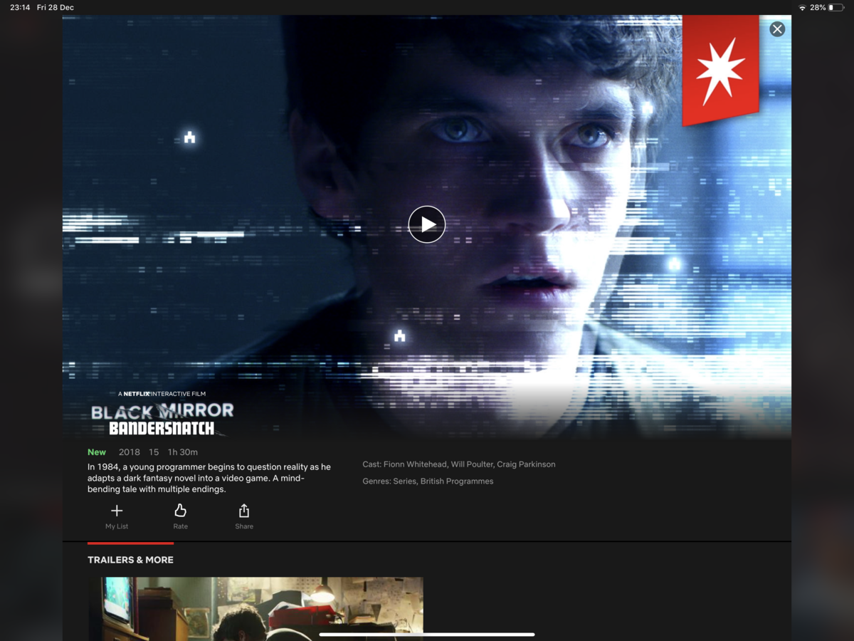 No interactive Black Mirror: Bandersnatch for Apple TV