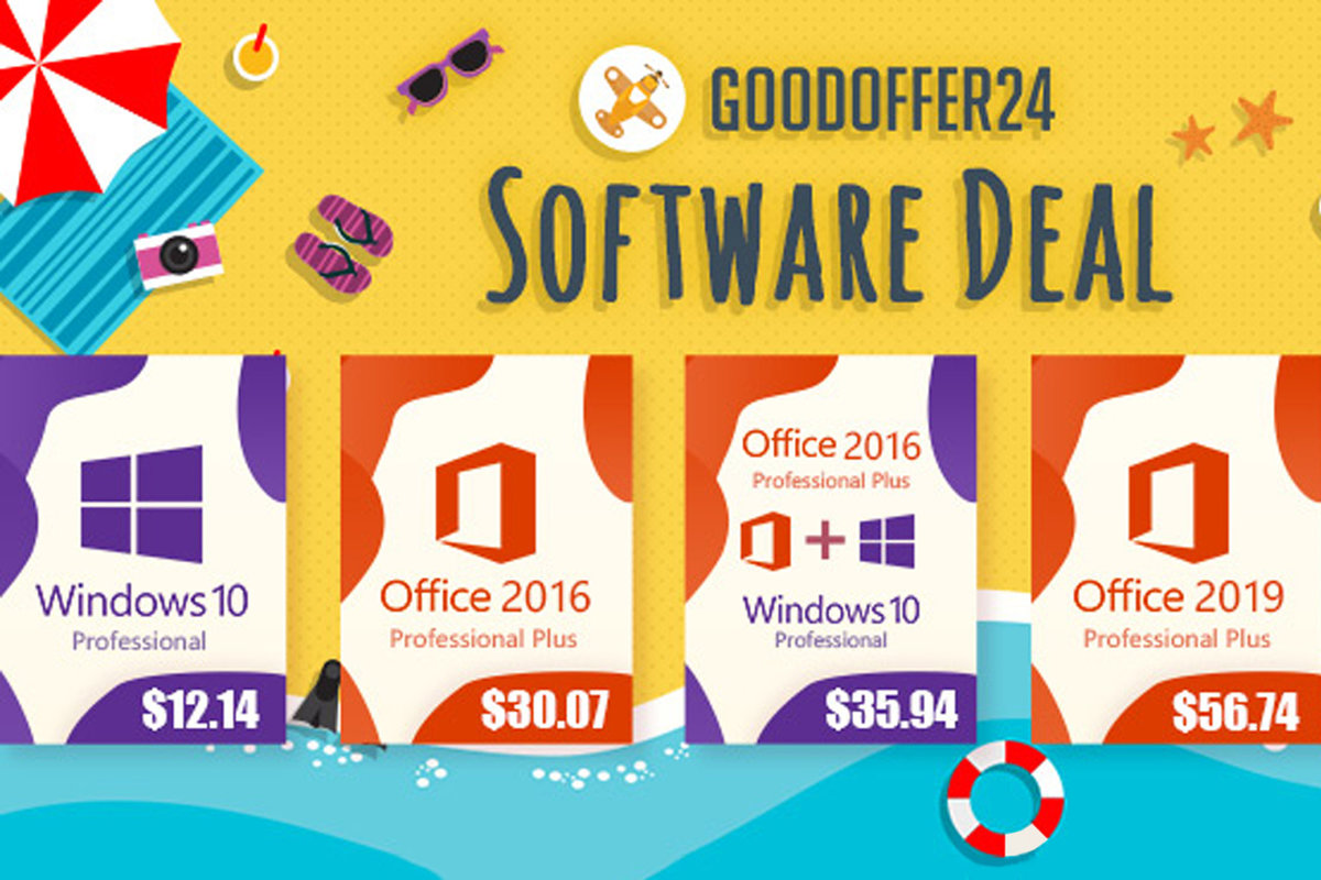 Get Windows 10 Pro for less than $13 and more – only at GoodOff