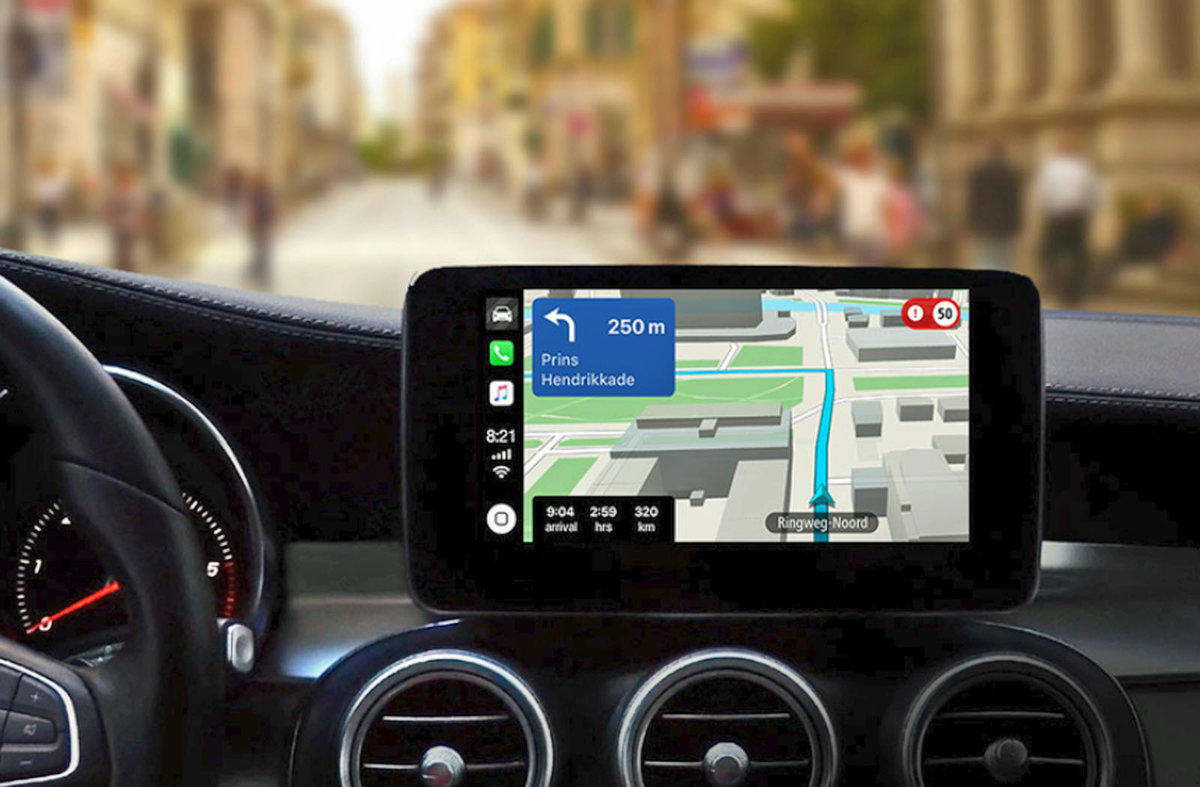 TomTom Go Navigation offers Apple CarPlay integration for a pre